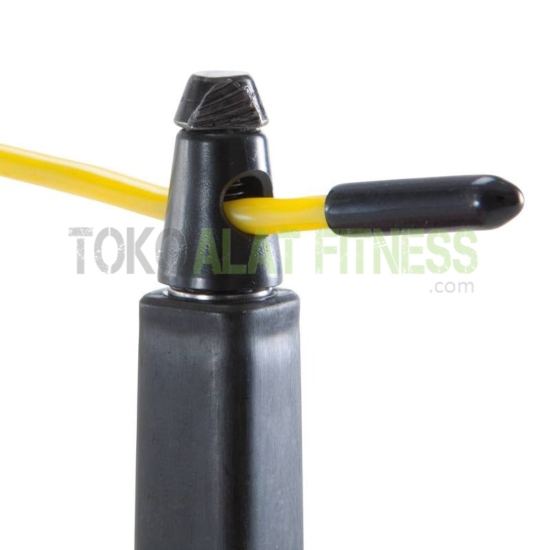 100 speed adult skipping rope yellow 4 - Skipping Speed Rope Domyos - ASSJP40
