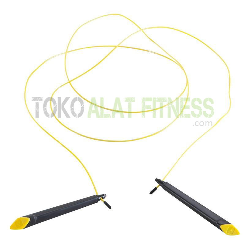 100 speed adult skipping rope yellow - Skipping Speed Rope Domyos - ASSJP40