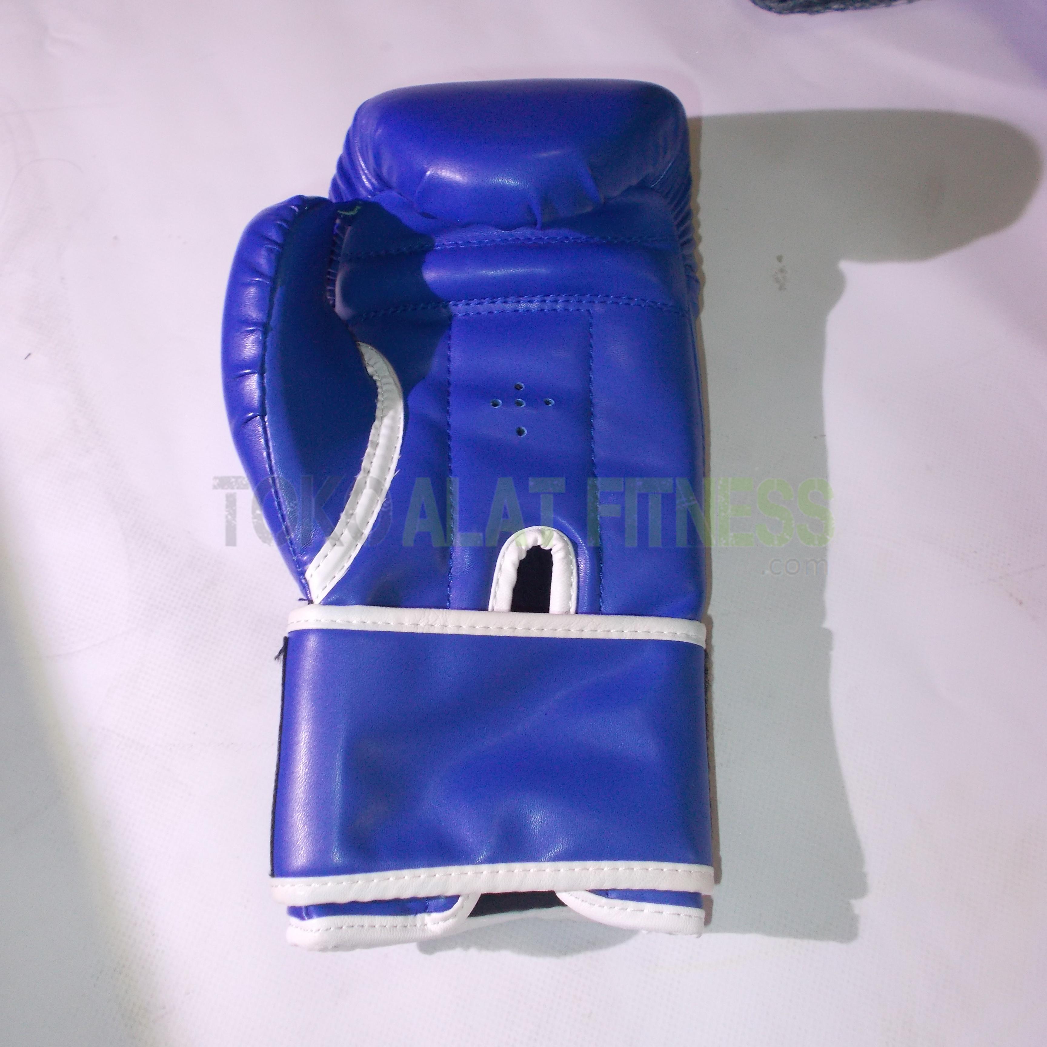 Sarung tinju everlast biru new 3 - Sarung Tinju/Boxing Glove 10 OZ (biru) Everlast