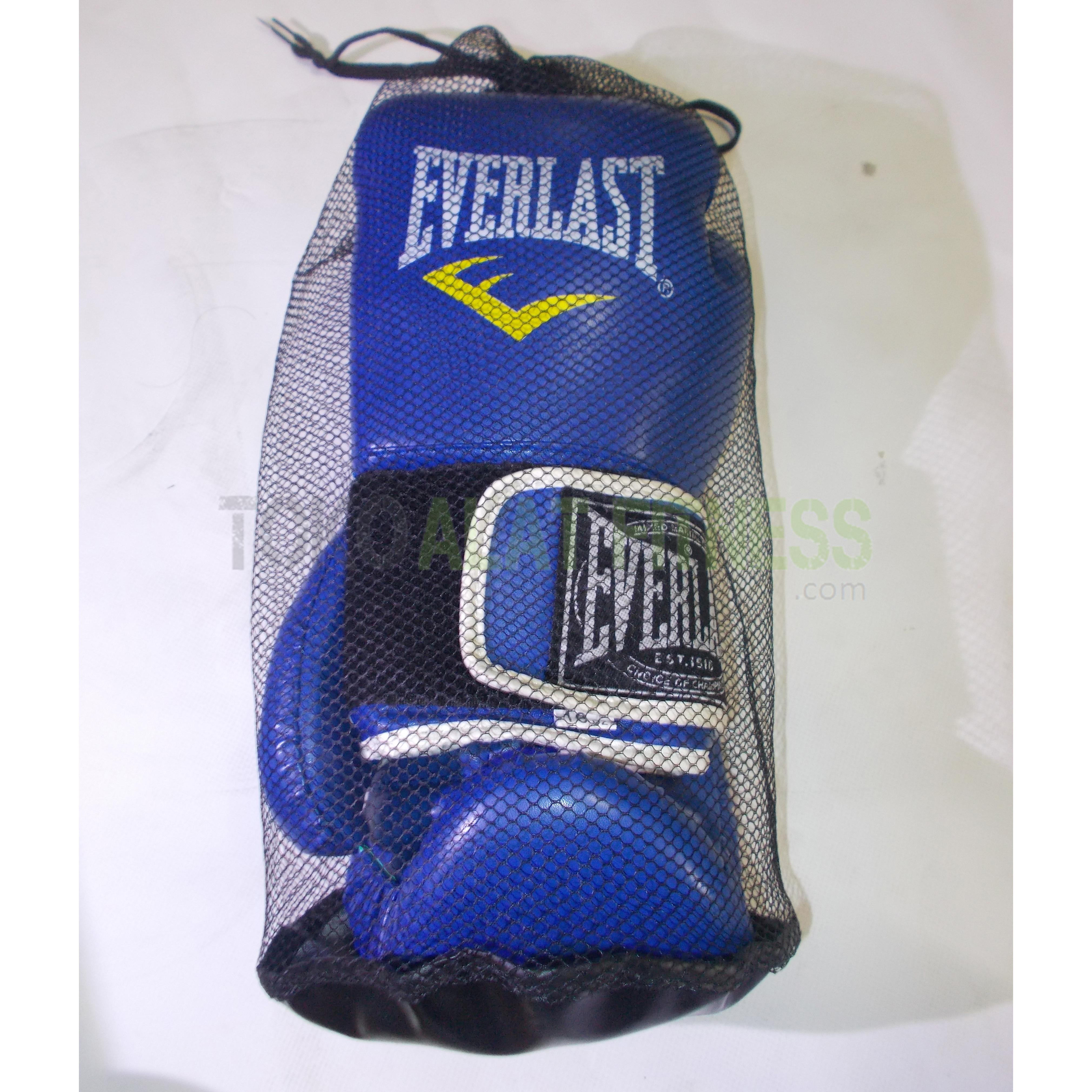Sarung tinju everlast biru new 4 wtm - Sarung Tinju/Boxing Glove 10 OZ (biru) Everlast