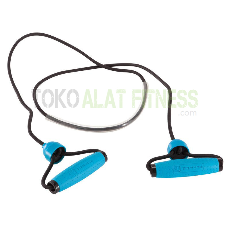 adjustable toning gym elastic band level medium - Resistance Tube Medium Biru Domiyos - ASSRB16A