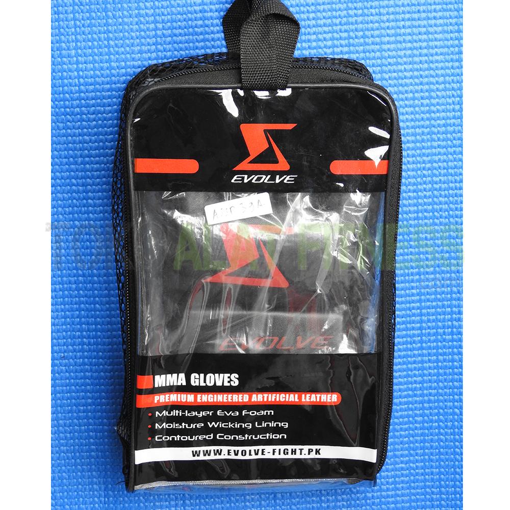 gloves 3 wtm - Boxing Mma Gloves Size M, Hitam Evolve