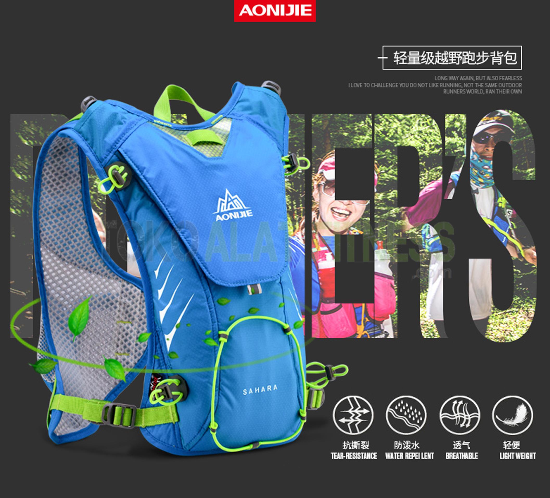 running bag 7 wtm - Aonijie Running Backpack Bag, Biru