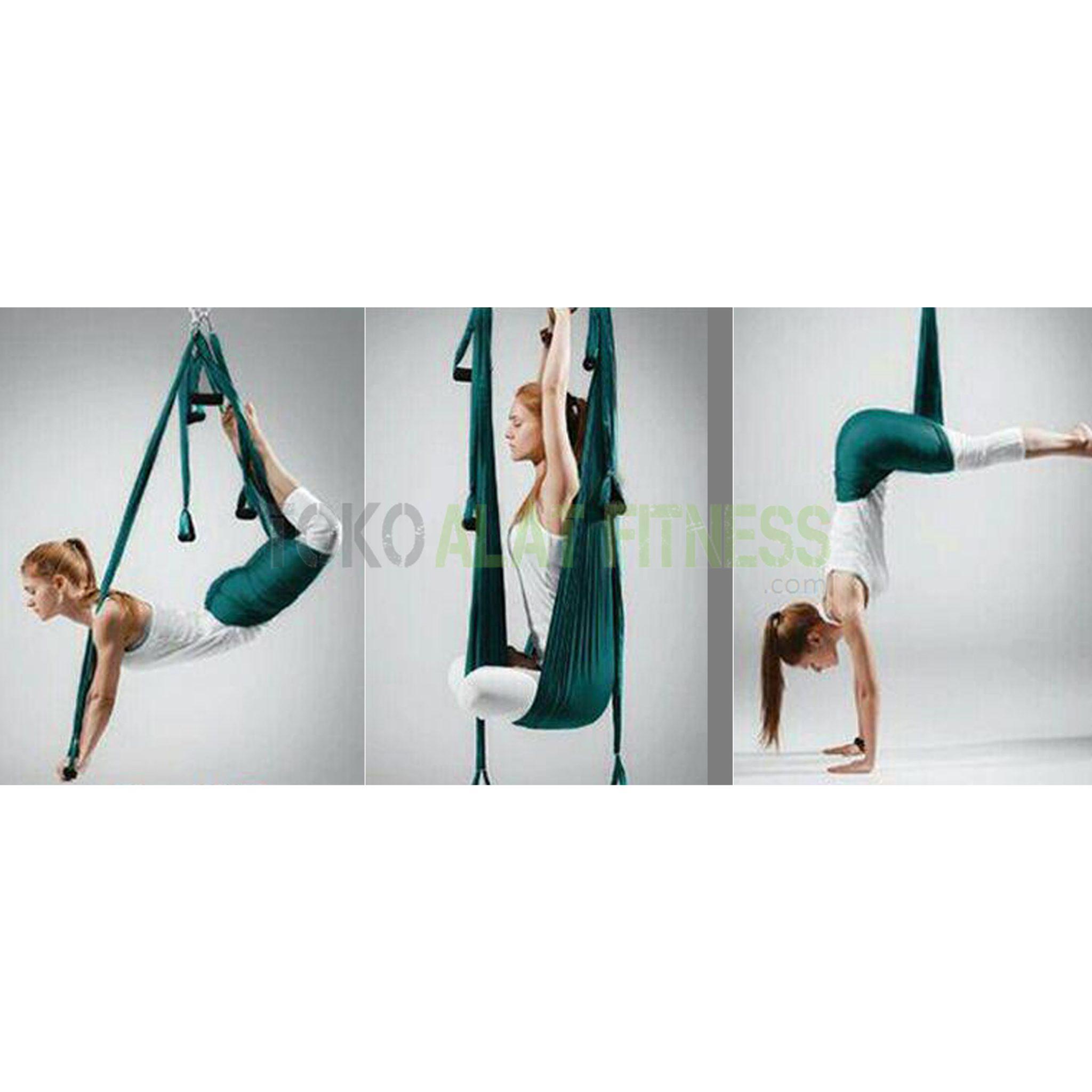 yoga swing hamock hijau 2 wtr - Yoga Swing / Hammock, Hijau Body Gym