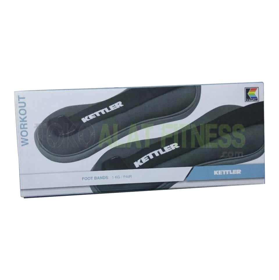 Ankle Foot Band 1kg New kardus wtm - Kettler Ankle Weight/Foot Band 1Kg, Grey