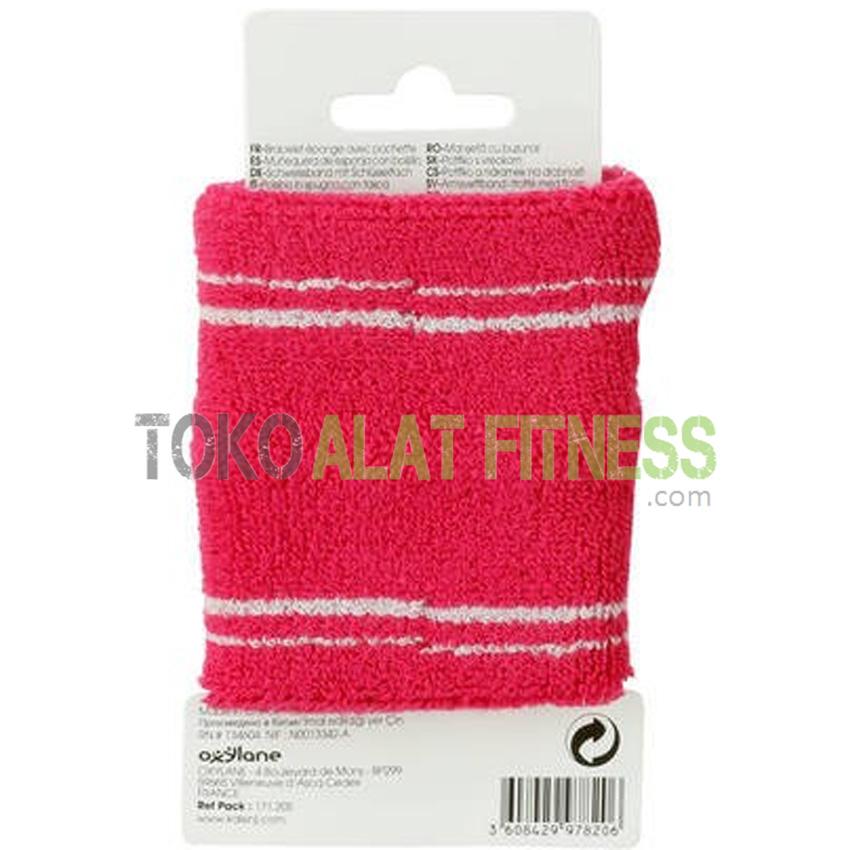 Kalenji Pocket Sponge Wrist 4 wtm - Wrist Band Cotton Pink Kalenji