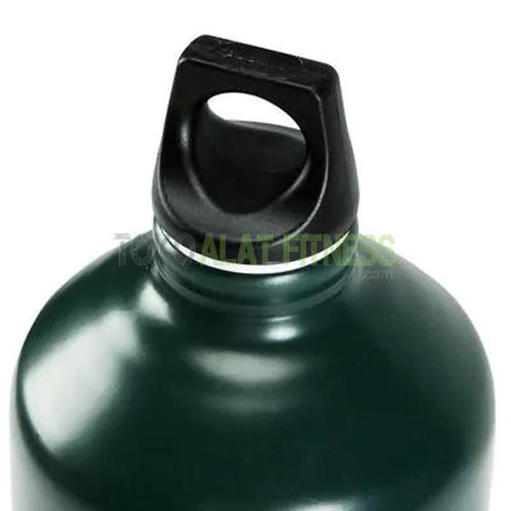 Quechua Botol Minum 15 L 1 wtm - Quechua Botol Minum Screw Cap Aluminium 1.5 L, Hijau