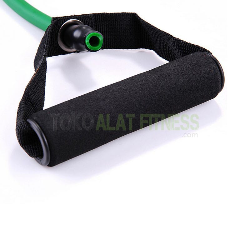 resistance tube ijo wtm 4 - Body Gym Resistance Band / Strap with Handle, Hijau 25-30 Lbs