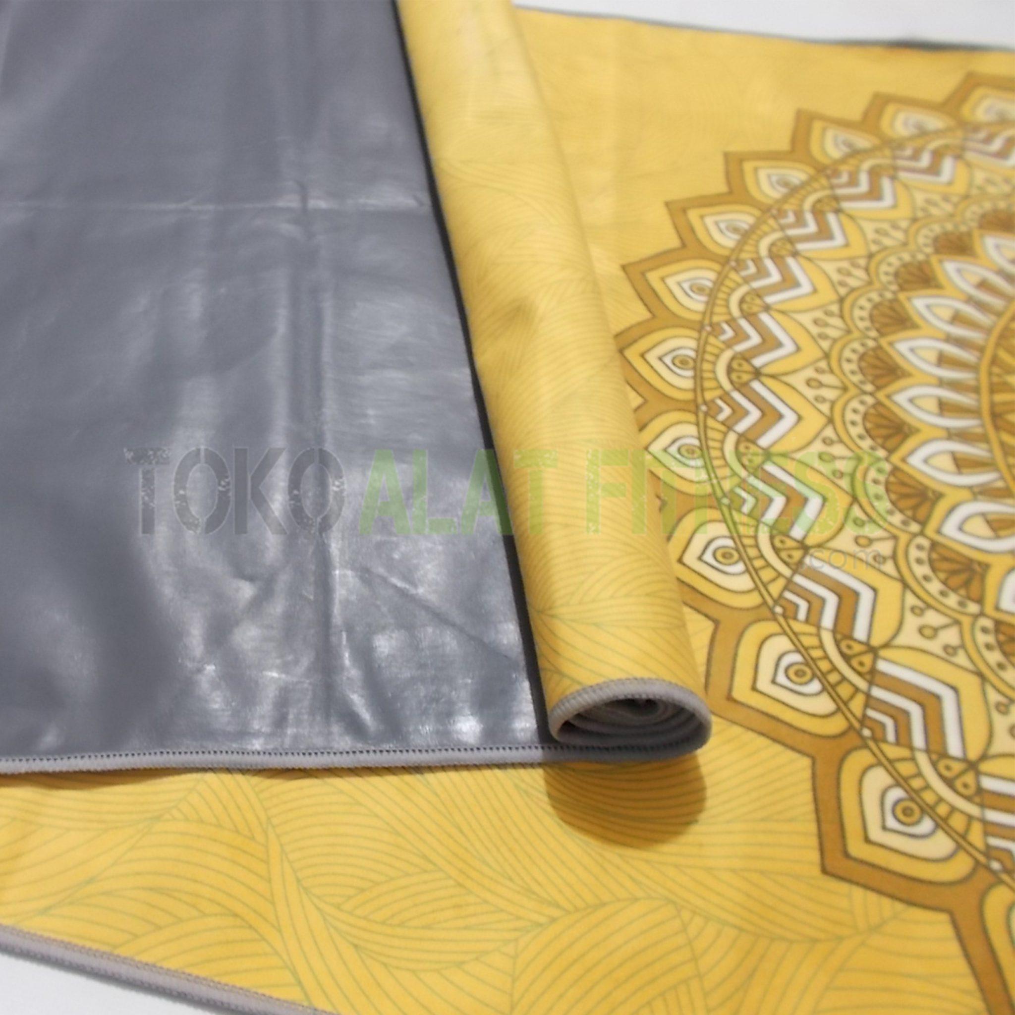 2 wtm - Yoga Mat Rubber Plastik Motif, Kuning  Body Gym