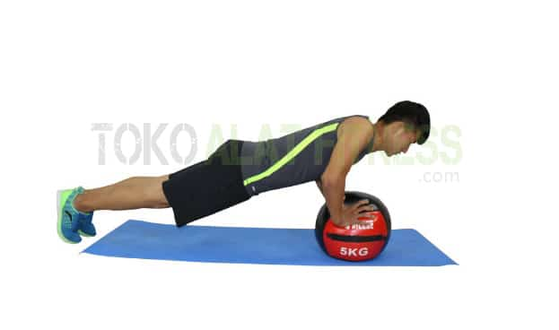 Medicine ball DTL 5kg wtr b - Durabble Medicine Ball 5Kg Merah Body Gym
