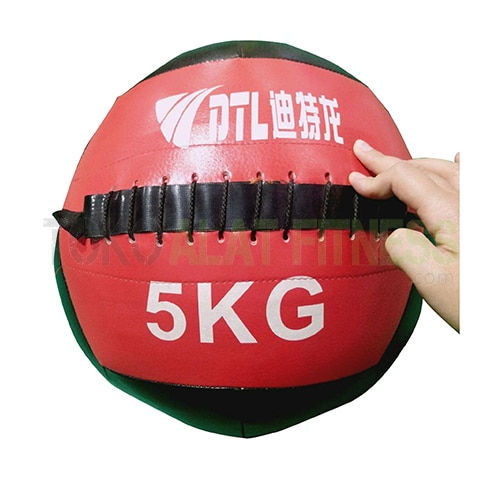 Medicine ball DTL 5kg wtr f - Durabble Medicine Ball 5Kg Merah Body Gym