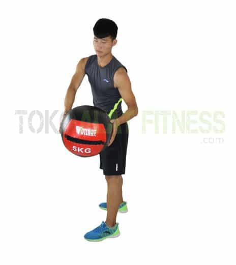 Medicine ball DTL 5kg wtr - Durabble Medicine Ball 5Kg Merah Body Gym