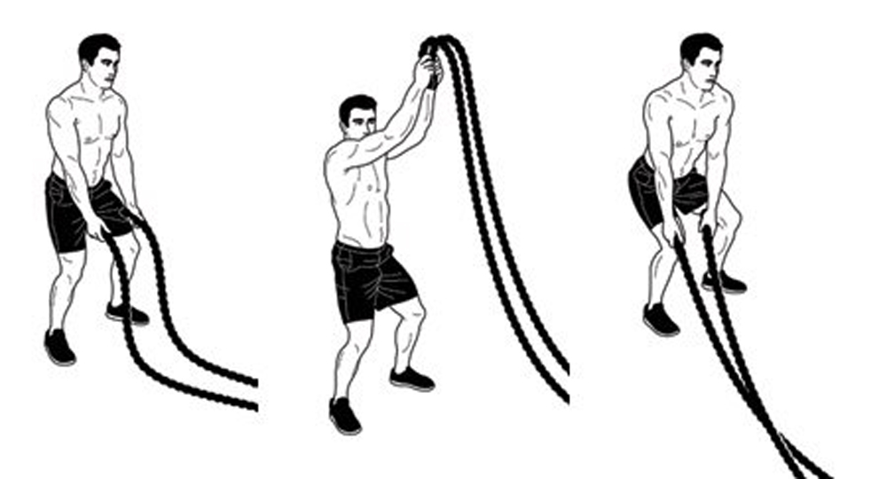 battle rope workout - Workout From Home - Battle Rope 9M 3.8CM Body Gym