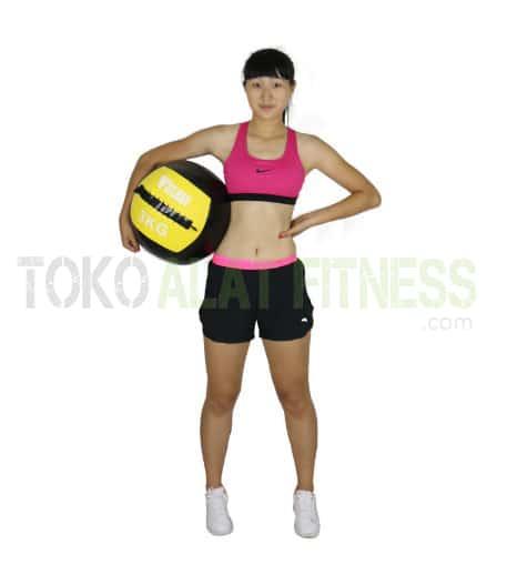 medicine ball DTL 3kg wtr e - Durabble Medicine Ball 3Kg Kuning Body Gym