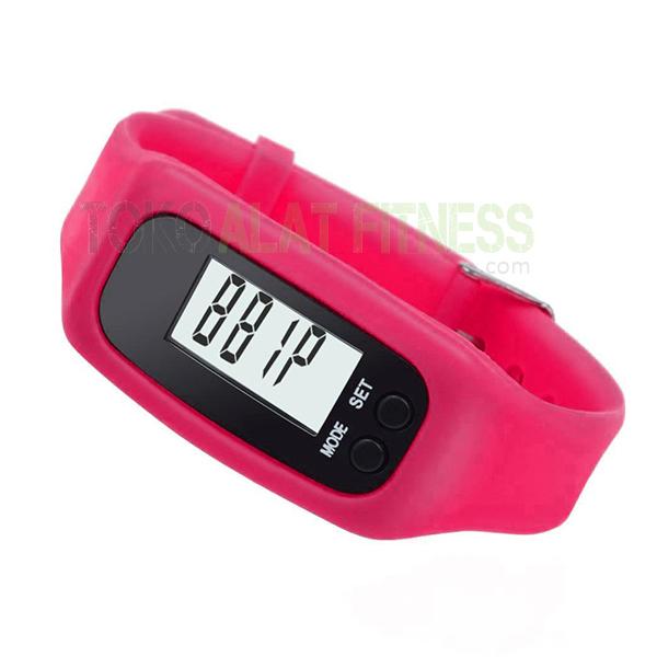 pedometer miniso pink wtr3 - Pedometer Bracelet, Pink Miniso