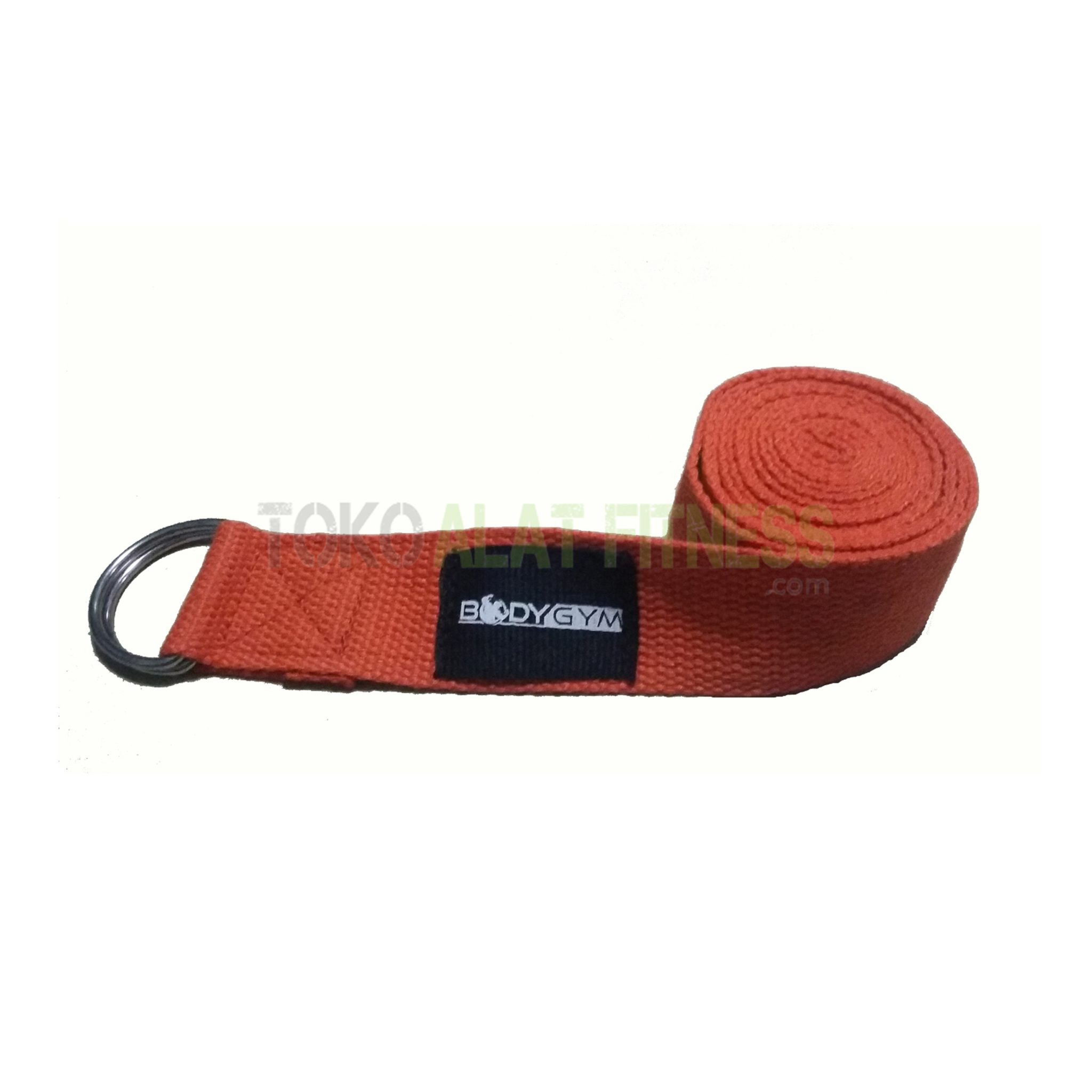 yoga strap orange - Yoga Strap 3.8 x 180cm Orange Body Gym
