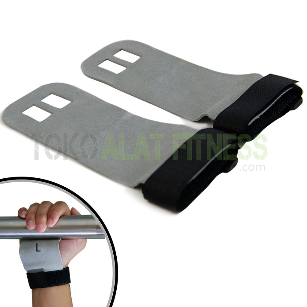 Weight Lifting Leather Palm 1 - Weight Lifting Wrist Wraps L Body Gym