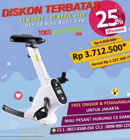 body gym office bike promo diskon jual alat fitness sepeda statis 260x280 - Special Promo WFH 25% - Office Bike Body Gym ALBG16