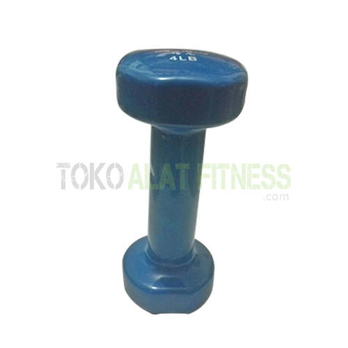 dumbell vynil 4 Edit WTR - Dumbell Vynil 4Lb, Biru Sm Body Gym