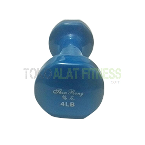dumbell vynil 7 Edit WTR - Dumbell Vynil 4Lb, Biru Sm Body Gym