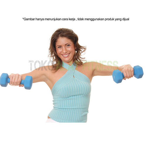 exercise dumbell b 1 wtr - Dumbell Vynil 4Lb, Biru Sm Body Gym