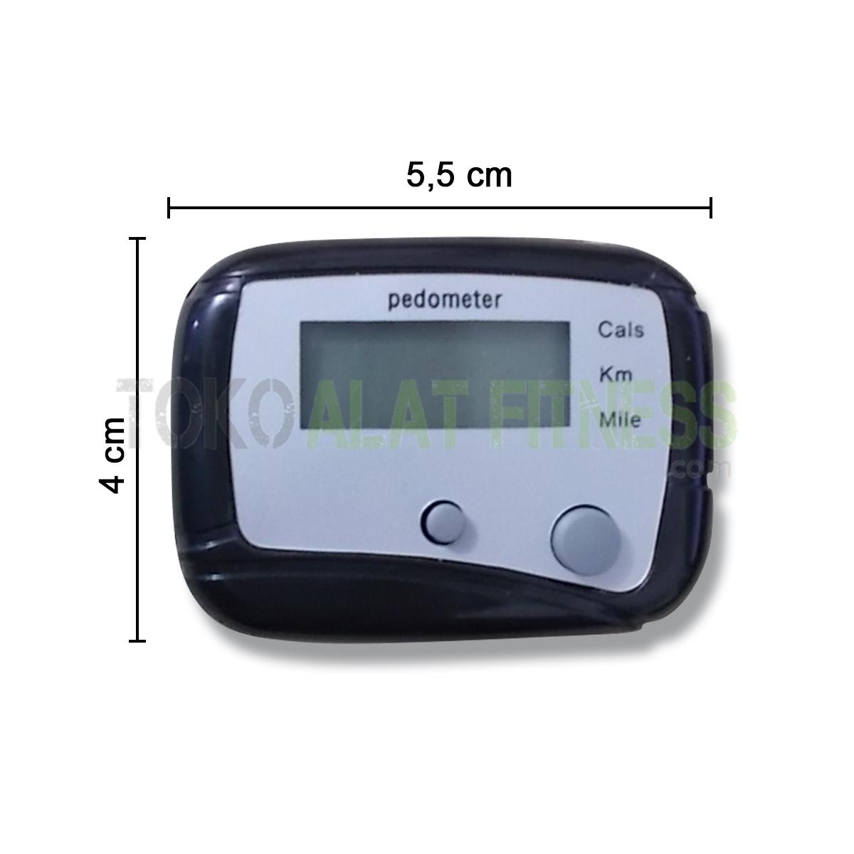 spek wtm - Mini Pedometer With Two Keys, Black Body Gym