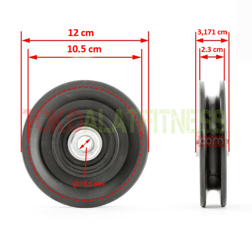cable pulley 12 cm 5 wtm - Sparepart Alat Fitness - Cable Pulley 12cm