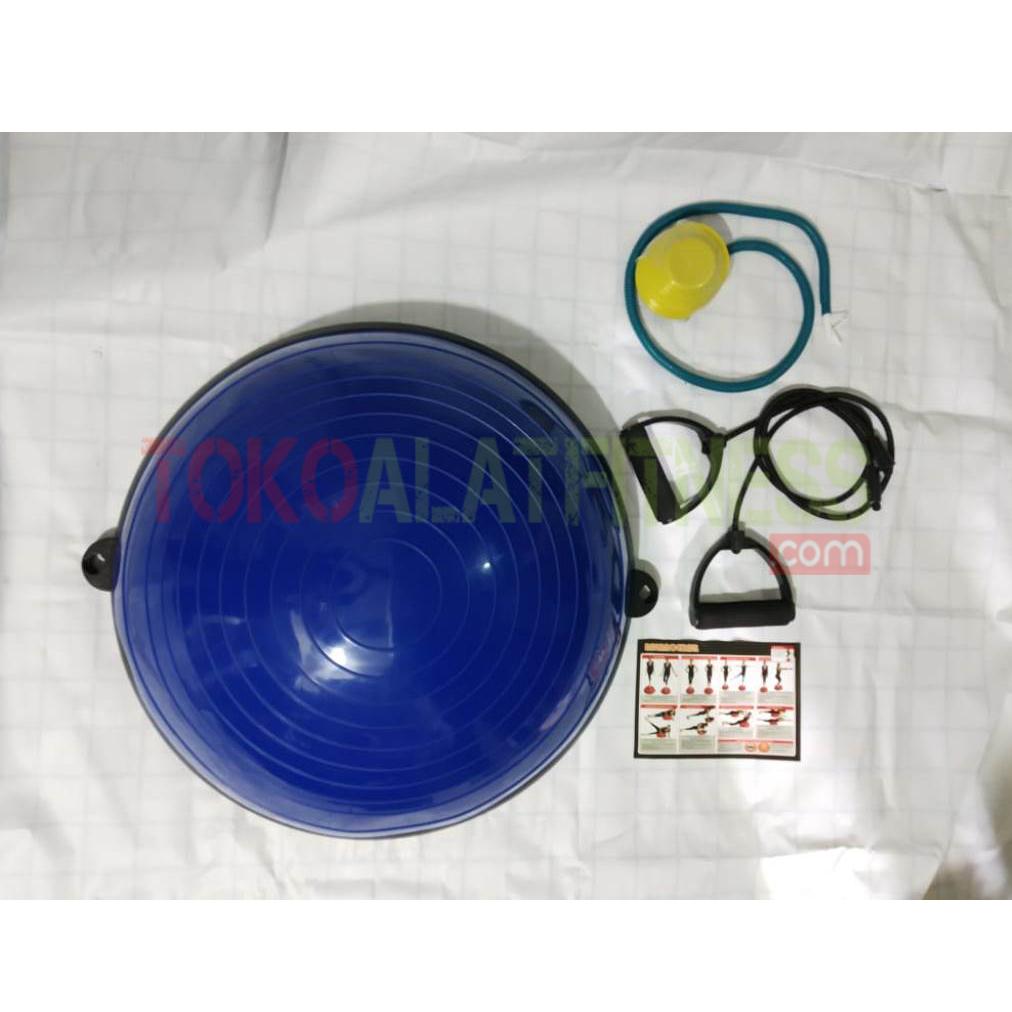 BALANCE HALF BALL BIRU TUA 5 WTM - Body Gym Balance Ball 57cm, Biru Tua ( Bosu Ball )