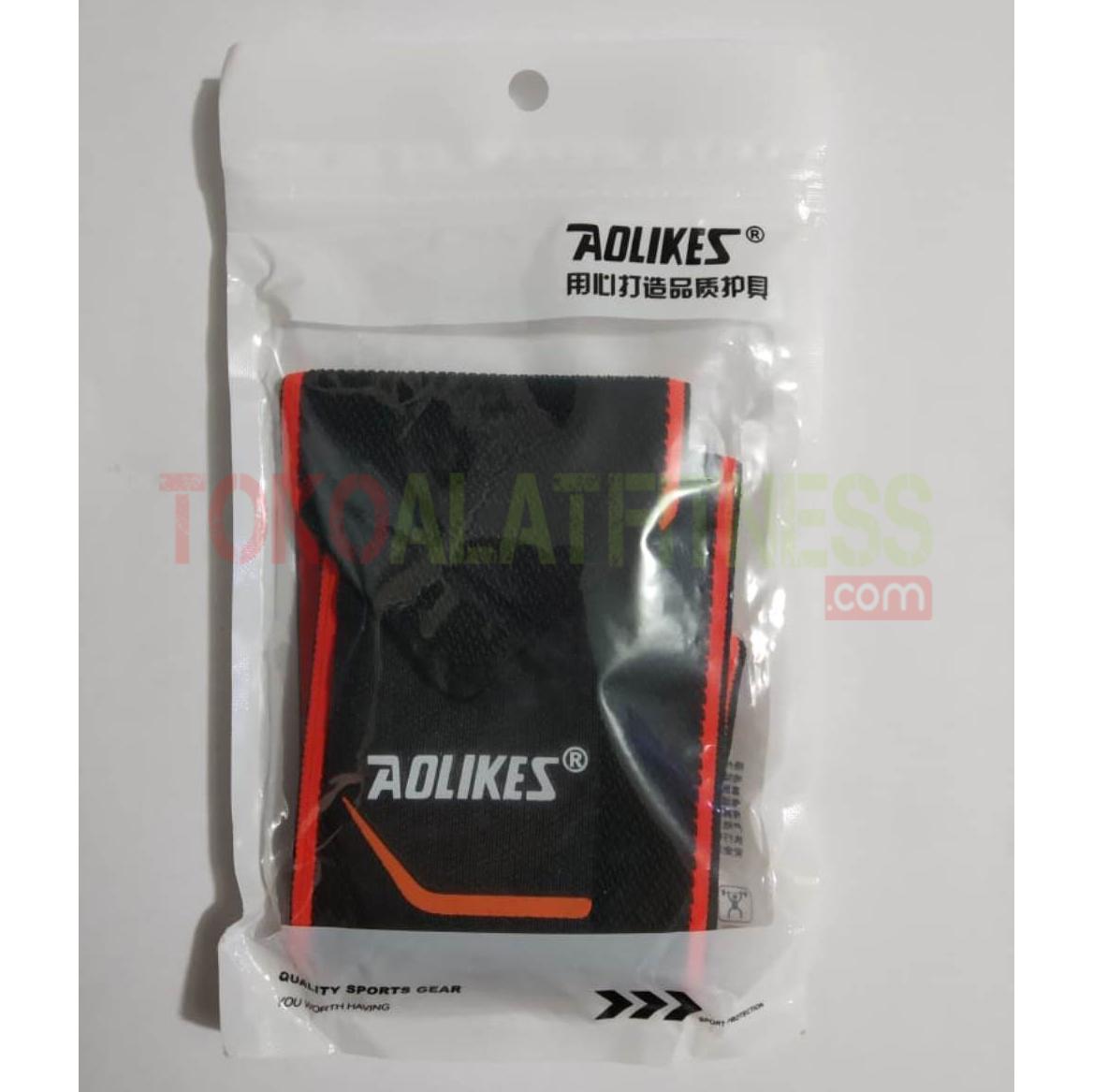AOLIKES WRIST BAND WTM 13 - Hand Sprain Bandage, Black Orange Warps