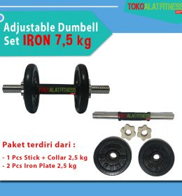 BANNER 75 KG 1 260x280 - Adjustable Dumbell Set Iron 7,5 kg Body Gym
