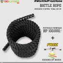 Paket 10 Battle Rope 130x130 - Workout From Home - Battle Rope 9M 3.8CM Body Gym