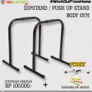 Paket 11 Dipstand Push Up 130x130 - Workout From Home - Dipstand / Push Up Stand Hitam Body Gym