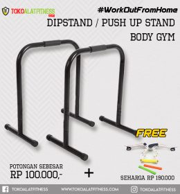 Paket 11 Dipstand Push Up 260x280 - Workout From Home - Dipstand / Push Up Stand Hitam Body Gym