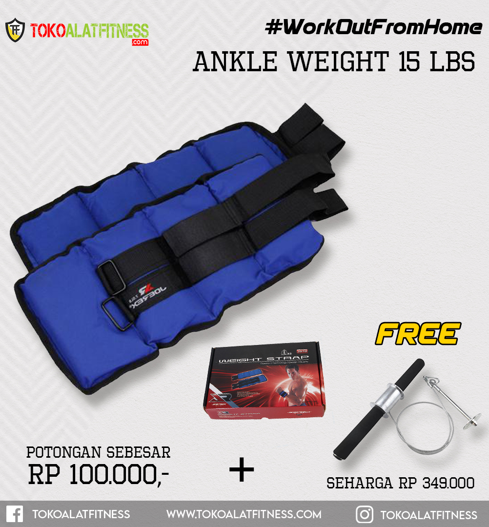 Paket 14 Ankle Weight 15 LBS - Workout From Home - Ankle Weight 15 Lbs Joerex
