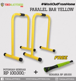Paket 6 Paralel Bar Yellow 260x280 - Workout From Home - Dipstand Push Up Stand Equalizer Parallel Bars Body Gym
