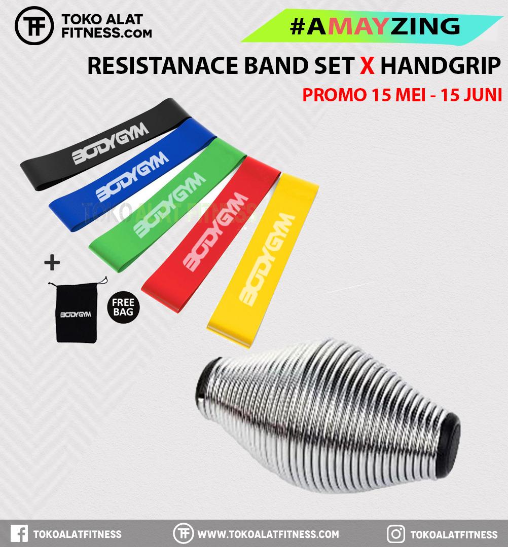 1 1 - PROMO BUNDLING AMAYZING RESISTANCE BAND LOOP SET & HAND GRIP ENERGITY