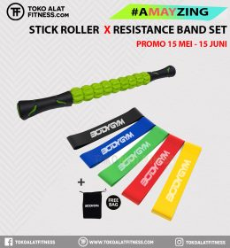 1 2 260x280 - PROMO BUNDLING A MAY ZING  STICK ROLLER & RESISTANCE BAND SET LOOP