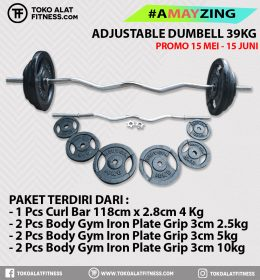 2 1 260x280 - PROMO BUNDLING A MAY ZING ADJUSTABEL CURL BAR  SET 39 KG