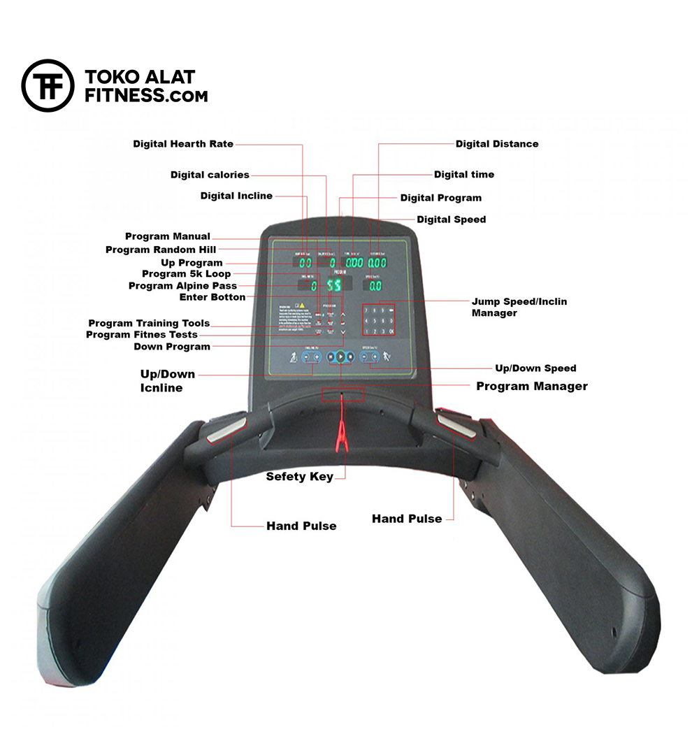Alat Fitness Premium Quality BGT26 Big Electric Treadmill 7 Hp Motor AC 2 - Big Electric Treadmill 7 Hp Motor AC Body Gym - BGT26A