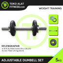 Adjustable dumbell set iron besi harga murah dumbel alat fitness 5 kg 1 130x130 - Adjustable Dumbell Set Iron 5 Kg Body Gym - ASSD58A