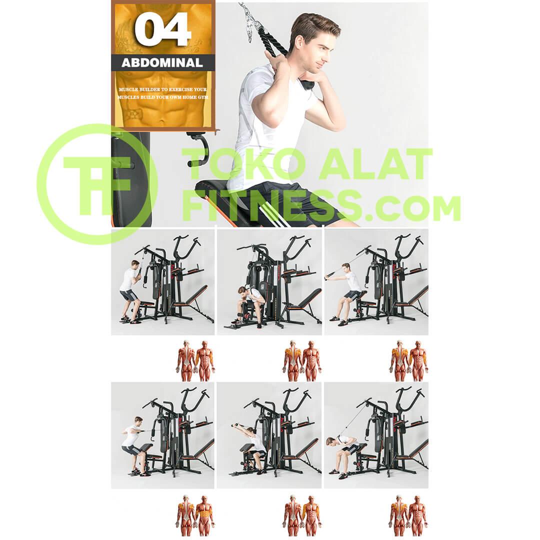 Home Gym 3 Sisi BGD303 Body Gym Premium Quality Alat Fitness Indonesia 12 - Home Gym 3 Sisi Body Gym - BGD303