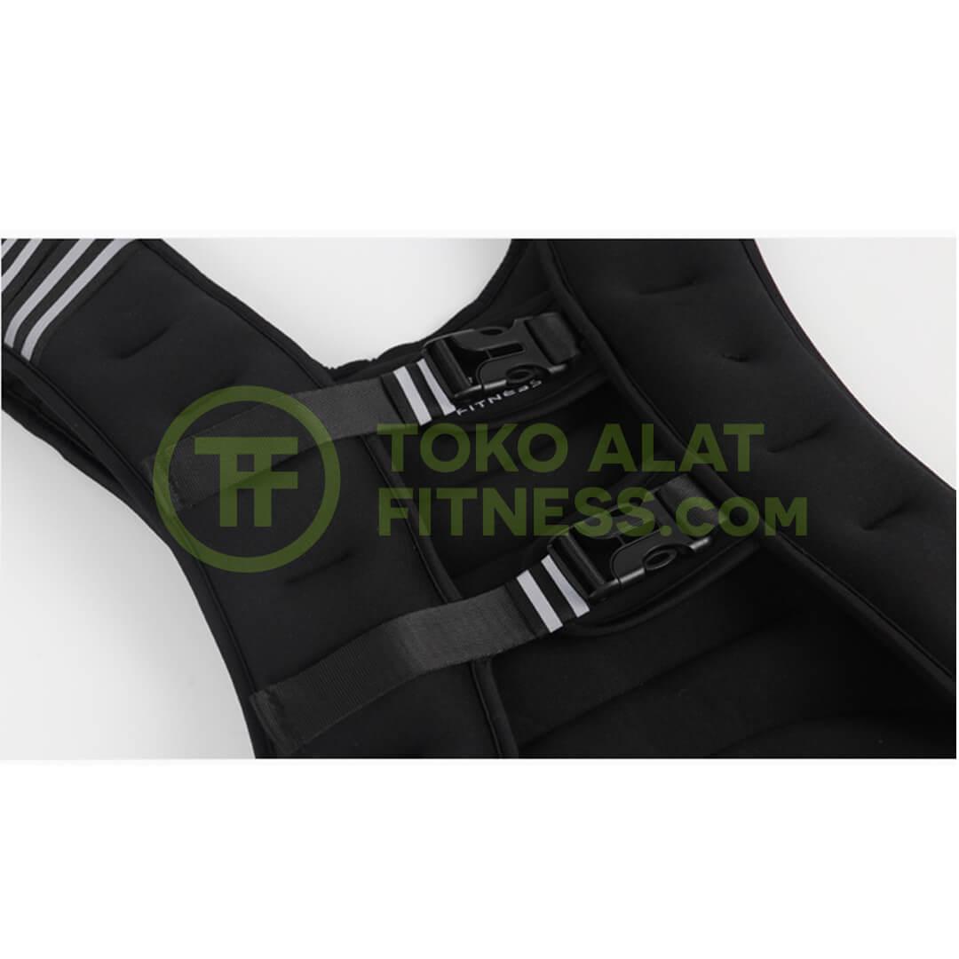 Gorefit Rompi Pemberat Olahraga Weighted Vest Sleting - Gorefit Rompi Pemberat Olahraga Weighted Vest Beban 5kg