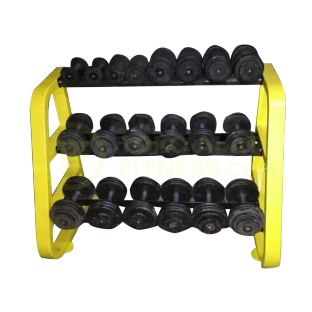 Rak Dumbell 3 susun 1 real - Rak Dumbell 3 Susun 10 Pair