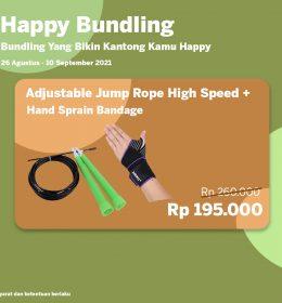 happy bundling ecom 8 260x280 - Happy Bundling Adjustable Jump Rope + Hand Sprain Bandage